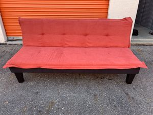 BRAND NEW RED MICROFIBER FUTON. OLENTANGY RIVER RD AND BETHEL RD PICKUP for Sale in Upper Arlington, OH