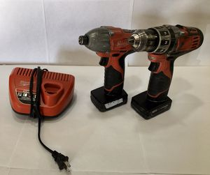 MILWAUKEE HAMMER DRILL/IMPACT SET WITH BATTERIES AND CHARGER for Sale in Lakewood, CO
