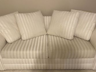 White Couch with Full Size Sleeper Sofa for Sale in Deer Park,  IL