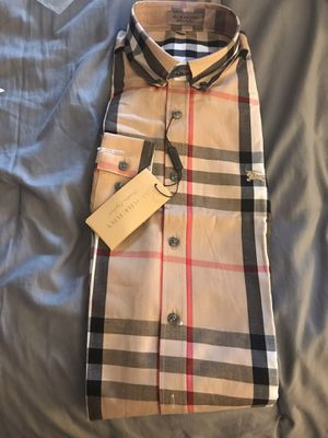 Burberry Men's Cotton Plaid Check Shirt L Size for Sale in Orlando, FL