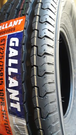 225/75/15 [2] NEW TRAILER TIRES ST225/75R15 10 PLY / load range E for Sale in Los Angeles,  CA