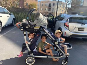 Austlen Entourage double stroller with accessories for Sale in Irvine, CA