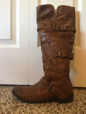 Brown tall boots for Sale in Millersville, MD