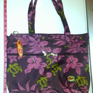 Hawaiian Hibiscus Print Reuseable Canvas Tote Bag for Sale in Carson, CA