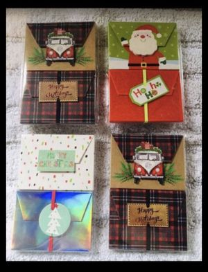 New 4 pack Christmas gift card holders for Sale in South Gate, CA