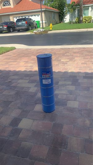 Pool filter for Haywood 750 size filterMicro ban blue filter.stays cleaner and prevents algae and bacteria growth in filter canister when sets for 12 for Sale in Sunrise, FL