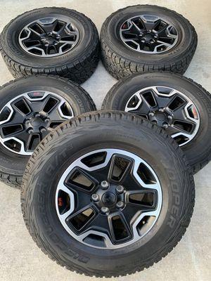 Jeep wrangler rubicon wheels for Sale in Rialto, CA