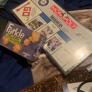 Unopened Brand New Family Board Games Mariners And Farkle for Sale in Bothell, WA