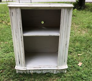 Vintage White Distressed Solid Wood Farmhouse / Cottage Chic Storage Cabinet for Sale in Henrico, VA