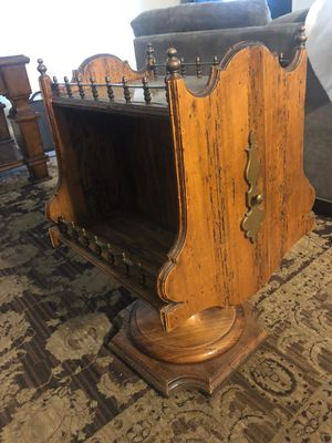 Antique bar table with copper for Sale in Huntington Beach, CA