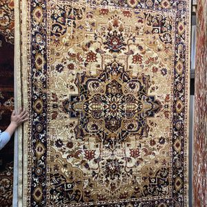 5x7 Cream Burgundy Classic Floral Rug Distress Faded Look Carpet Non Shedding Non Slide Mat for Sale in Los Angeles, CA