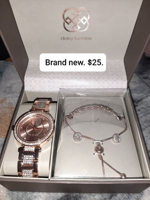 Daisy Fuentes women's watch and necklace for Sale in Hermon, ME