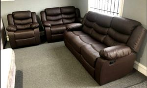Dynamo Brown 3-Piece Reclining Living Room Set for Sale in Austin, TX