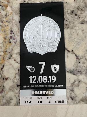 Raiders ticket for Sale in San Ramon, CA