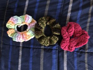 3 homemade scrunchies for Sale in Dallas, TX