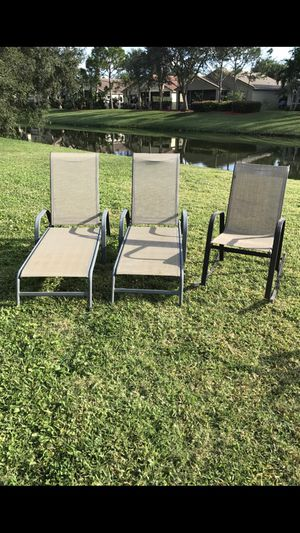 Lawn/Patio Furniture. 2 Lounges, 1 Rocker. Great Used Condition. No rips, No Tears. for Sale in West Palm Beach, FL