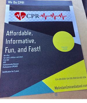 CPR and First aid class! Pop up shops weekly! for Sale in Columbus, OH