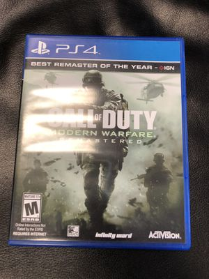 Call of duty modern warfare remastered PS4 for Sale in Chicago, IL