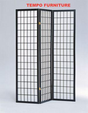 3 Panel Room Divider, Black, #7034BK for Sale in Santa Fe Springs, CA