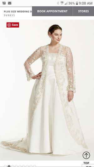 Wedding Gown with Lace Jacket for Sale in Peoria, IL