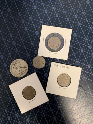 Old coin walking liberty and buffalo nickel -no dates for Sale in Hialeah, FL