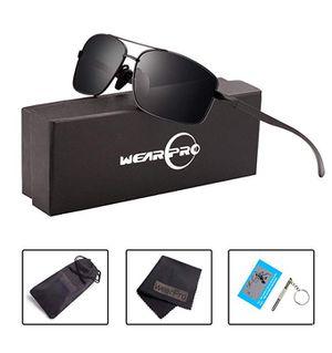 Sport Polarized Sunglasses For Men-wearPro Ultralight Rectangular Sunglasses Driving Fishing 100% UV Protection for Sale in Brooklyn, NY