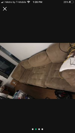 Nice tan and chocolate sectional 4 piece no tears or rips for Sale in Seattle, WA