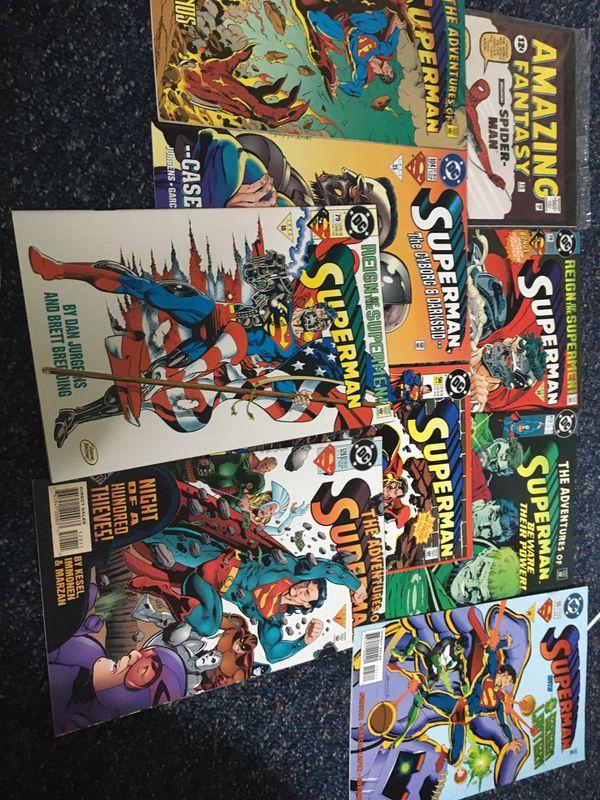 1990s Superman Comic Book Lot