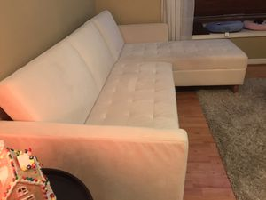 Sectional White Couch for Sale in Herndon, VA