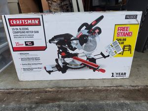 Craftsman 10-in 15-amp Compound Sliding Miter Saw for Sale in Simpsonville, SC