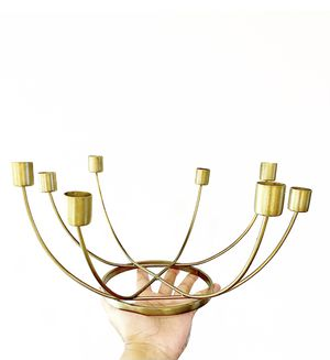 Brass / Gold Candelabra - 15 available, great for weddings or any special event. Also good for general home decor. for Sale in Gresham, OR