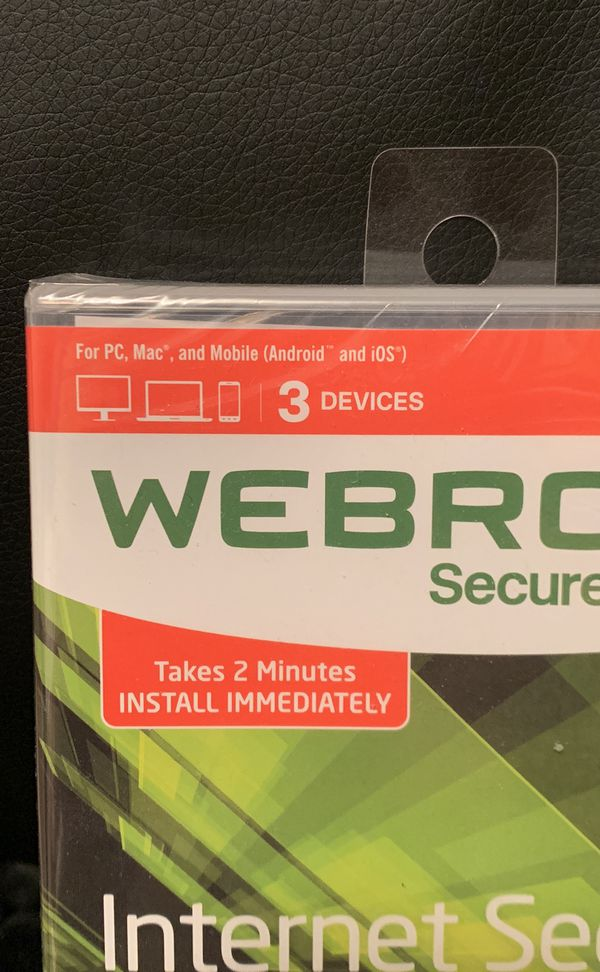 Web Root Internet security - Brand New In Plastic - Retails at $49