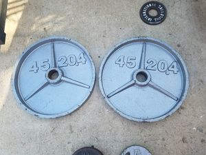 45lb olympic size weights for Sale in Colton, CA