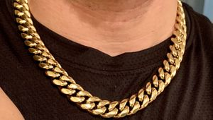 "Gold jewelry bonded in stainless steel 14mm 22"" chain for Sale in Plantation, FL"