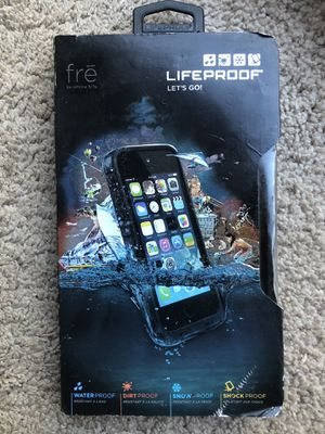LifeProof FRE SERIES Waterproof Case for iPhone 5/5s/SE - Black for Sale in Richmond, VA