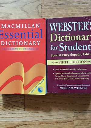 Two dictionaries - Macmillan Essential Dictionary and Webster's Dictionary for Students for Sale in Schiller Park, IL