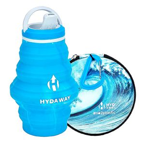 HYDAWAY NO2PLASTIC Hydration Travel Pack | Limited Edition Collapsible Water Bottle with Spout Lid and Compact Travel Case with Carry Clip for Sale in La Habra, CA