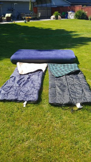 Two sleeping bags and one twin size air mattress for Sale in Vancouver, WA
