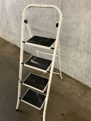 3 step metal folding ladder for Sale in Seattle, WA