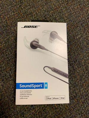 Bose Sounsport headphones with phone mic for Sale in Santa Clarita, CA