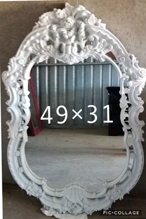 Vintage mirror refinished white for Sale in Cedar Hill, TX