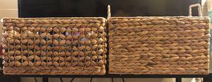 Mocha Water Hyacinth Storage Cubes With Handles for Sale in Honolulu, HI