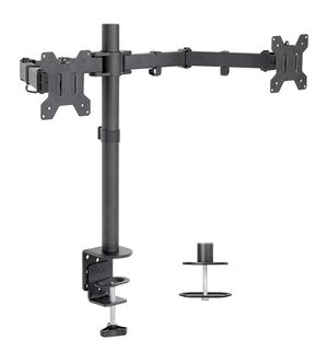 """Dual LCD Monitor Desk Mount Stand Heavy Duty Fully Adjustable fits 2 /Two Screens up to 27"""" for Sale in Silver Spring, MD"""