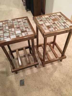 2 Handmade Ceramic Tables for Sale in Appleton, WI