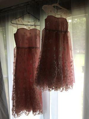 2 flower girl dresses from Dillard's 2018 for Sale in MIDDLEBRG HTS, OH