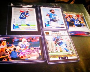 COLTS 5 CARD LOTS INCLUDING 2 RATED ROOKIE PARRIS CAMBELL AND 2 MARVIN HARRISON REFRACTOR ALL IN BRAND NEW CONDITION for Sale in Buffalo, NY