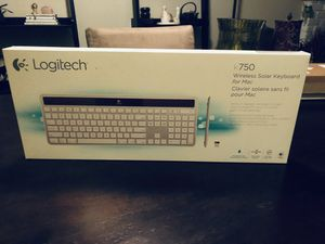 Apple Mac Logitech K750 Solar Powered Wireless USB extended keyboard for Sale in San Diego, CA