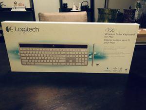 Apple Mac Logitech K750 Solar Powered Wireless USB extended keyboard for Sale in San Diego, CA