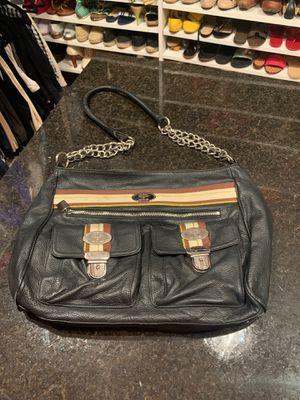 Christine Price Black Leather Large Shoulder Bag for Sale in Ellisville, MO