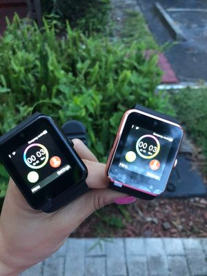 Brand new smartwatch with camera unlocked touchscreen works with any phone or any sim card for Sale in Fort Lauderdale, FL